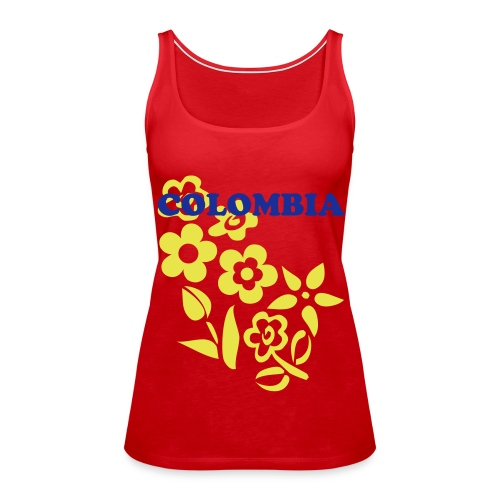 there is a design in the back of some T-shirts  - Women's Premium Tank Top