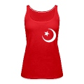 Red islam crescent moon star  Ladies'