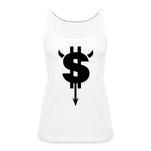 Dollar White - Women's Premium Tank Top