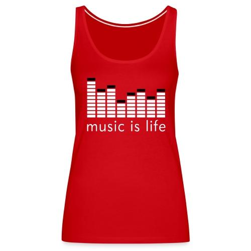 music is life Girlie Vest (SONDERFARBE) - Frauen Premium Tank Top