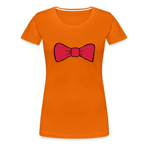 Bow Tie Continental Classic Women's (Orange)  - Women's Premium T-Shirt