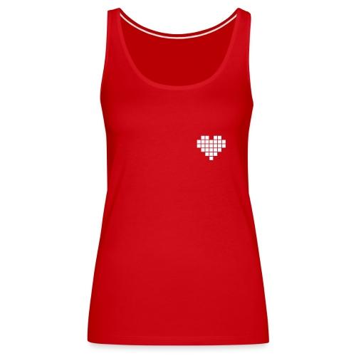Heart Pixel Women T-Shirt Red - Women's Premium Tank Top