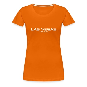 Girlie-Shirt LAS VEGAS, NEVADA orange - Frauen Premium T-Shirt