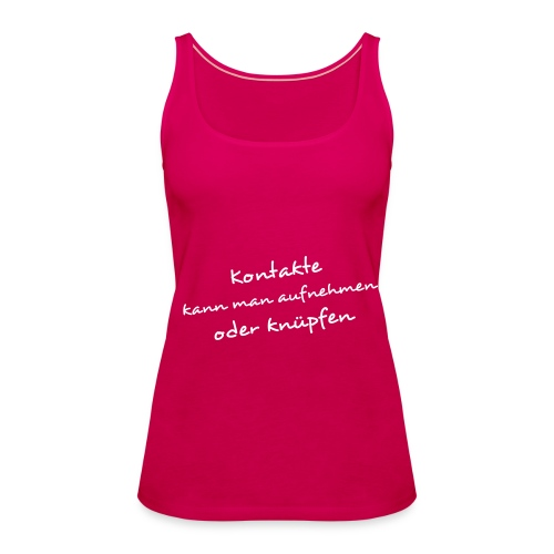 Charly's Line - k2pink - women - Frauen Premium Tank Top