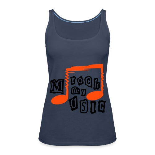 Rock the music - Women's Premium Tank Top