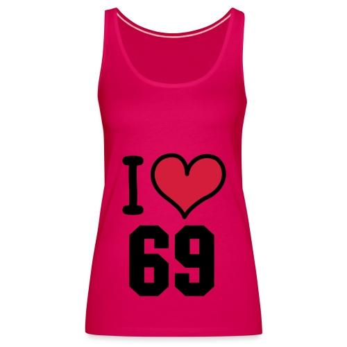 I Love 69 Pink Ladies Sport Top - Women's Premium Tank Top