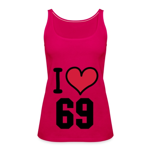 I Love 69 Pink Ladies Sport Top - Women's Premium Tank Top