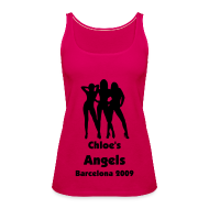 Tops ~ Women's Premium Tank Top ~ Angels - Personalised Text Front Only