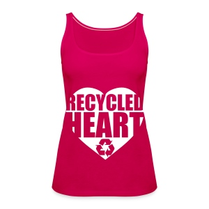 recycled heart - Frauen Premium Tank Top