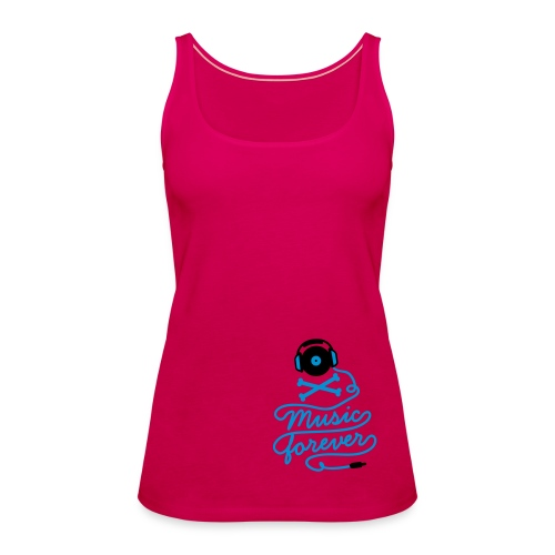 Music is forever - pink - Women's Premium Tank Top