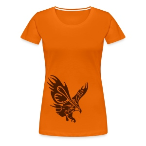 Female's Soaring Eagle (Orange) - Women's Premium T-Shirt
