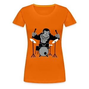 Drumming Gorilla (Various Colours) - Women's Premium T-Shirt