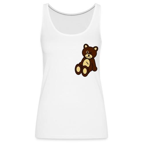 HIME -débardeur-white-bear - Débardeur Premium Femme