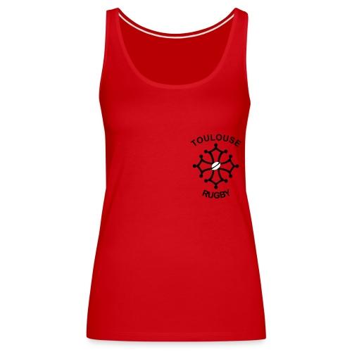 Débardeur femme rouge Toulouse Rugby - Débardeur Premium Femme