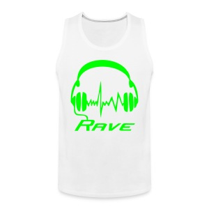 Rave Headphones - Neongreen - Premiumtanktopp herr