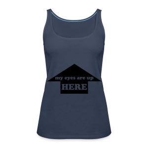 my eyes vest blue - Women's Premium Tank Top