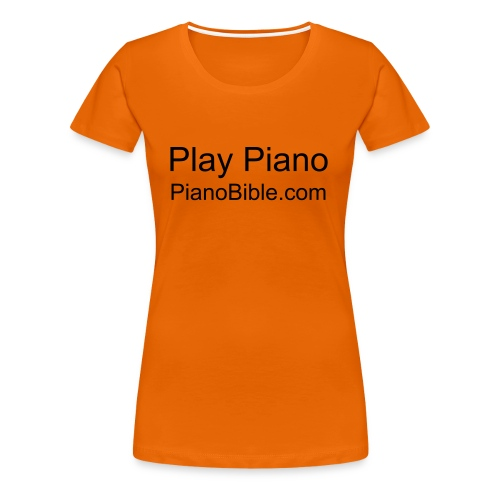I play piano - Women's Premium T-Shirt