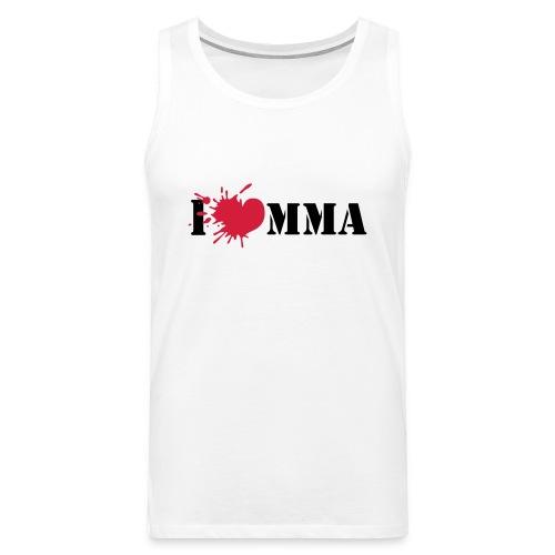 Mens I love MMA Sleevless Shirt (white) - Männer Premium Tank Top