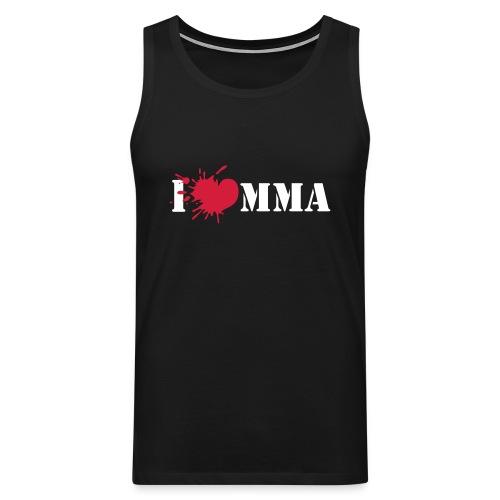 Mens I love MMA Sleevless Shirt (black) - Männer Premium Tank Top