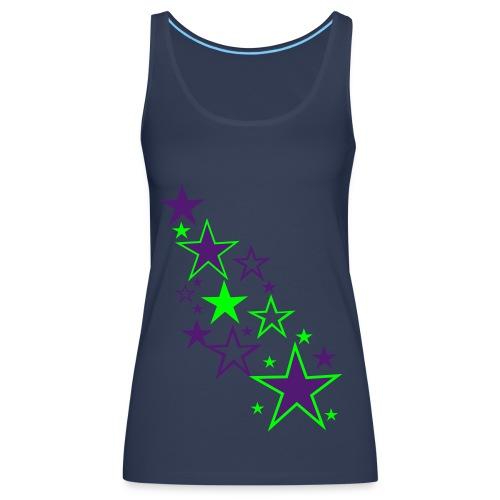 Neon stars vest top - Women's Premium Tank Top