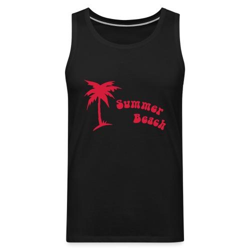 Ärmlös T-Shirt Herr med motiven Summer Beach  - Premiumtanktopp herr