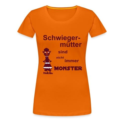Schwiegermutter - Shirt orange - Frauen Premium T-Shirt