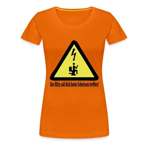 T-Shirt TOILETTE - Frauen Premium T-Shirt