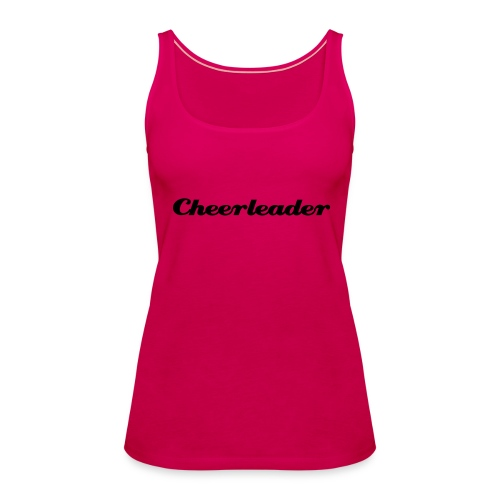 Cheerleader, svart text - Premiumtanktopp dam