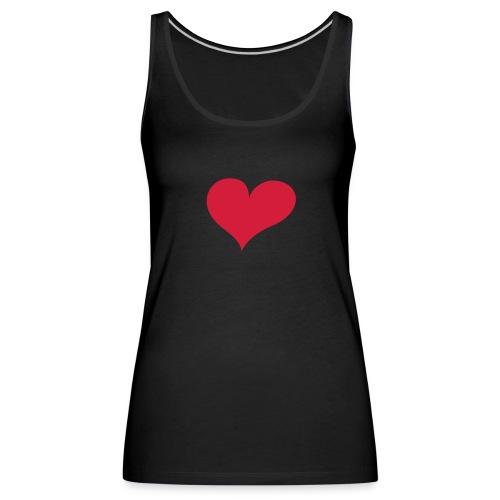 Hjerte - Premium singlet for kvinner