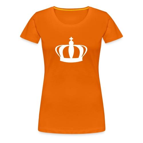 Koninginnedag Kroon T-shirt - Vrouwen Premium T-shirt