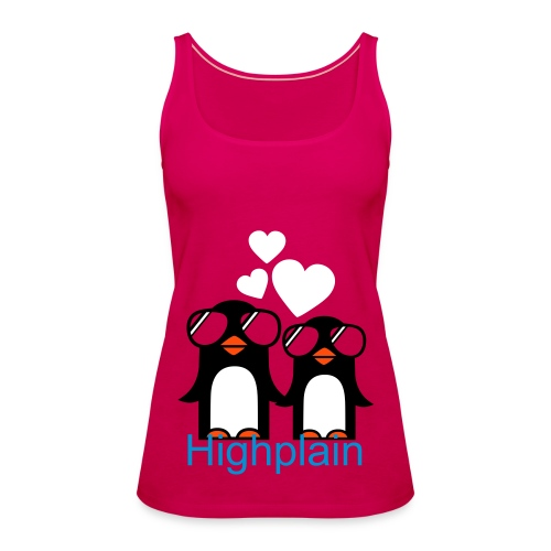 Penguin-LoveTank-top,pink - Frauen Premium Tank Top