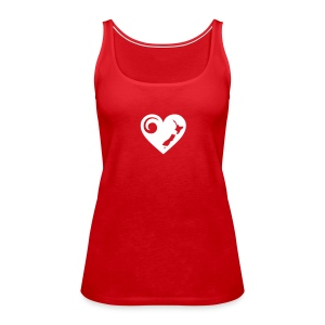 NZ Heart Singlet - Women's Premium Tank Top
