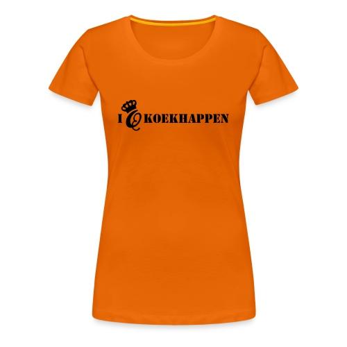 I love koekhappen - Vrouwen Premium T-shirt