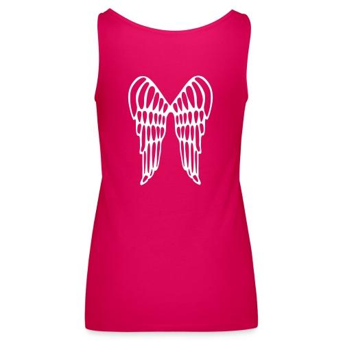 Canotta rosa con ali d'angelo dietro - Canotta premium da donna