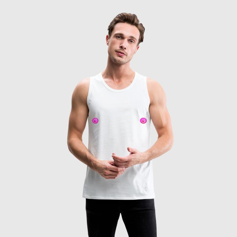 White NIpples Men's Tees - Men's Premium Tank Top