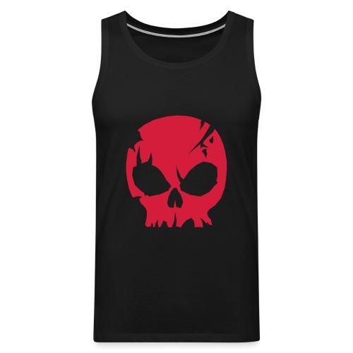 Red Skull Ärmlös T-shirt - Premiumtanktopp herr