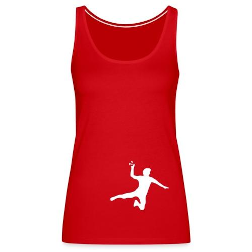 Top Silueta balonmano - Camiseta de tirantes premium mujer