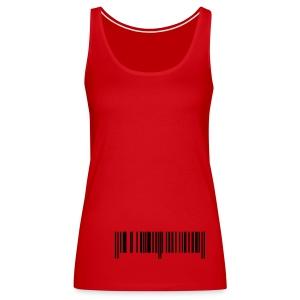 barcode line - Vrouwen Premium tank top