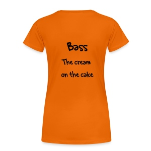 Bass cream cake T-shirt - Women's Premium T-Shirt