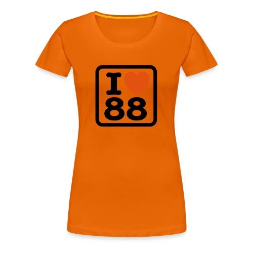 Oranje - Vrouwen Premium T-shirt