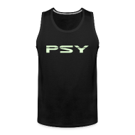 Sports wear ~ Men's Premium Tank Top ~ Psy. (Glow in the dark)