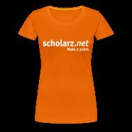 T-Shirts ~ Frauen Premium T-Shirt ~ scholarz.net - Girlie Orange