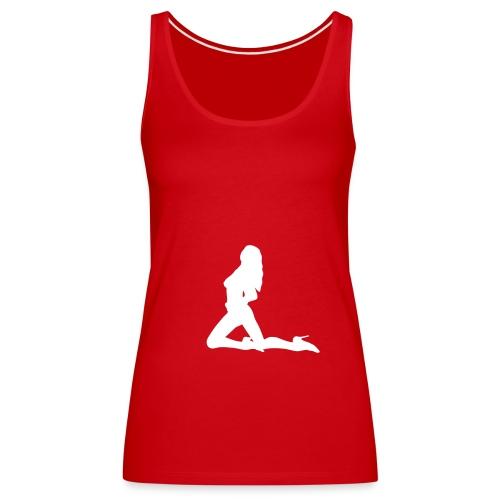 debardeur rouge pin up - Débardeur Premium Femme
