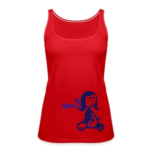 Scooter Girl Scoop Neck Tee - Women's Premium Tank Top