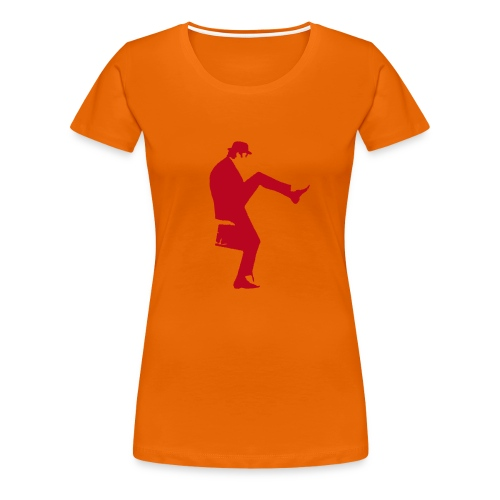 John Cleese Neon Orange Silly Walk Women's Shirt - Women's Premium T-Shirt