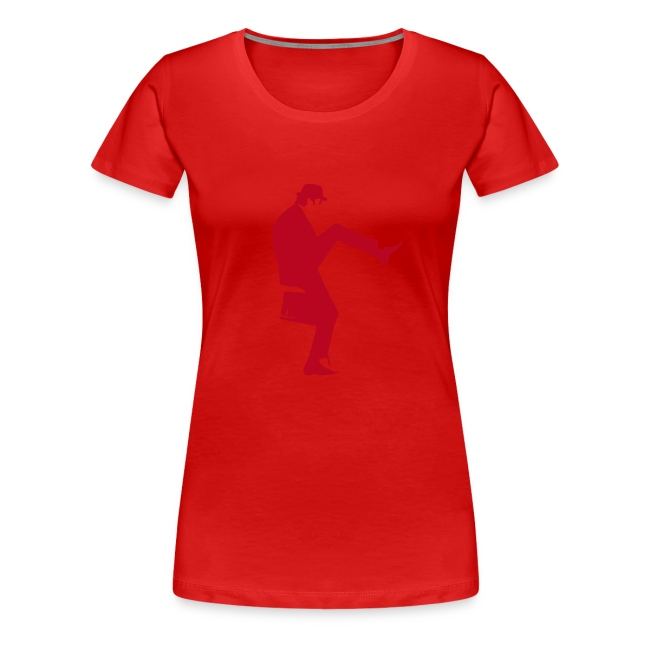 John Cleese Neon Orange Silly Walk Women's Shirt