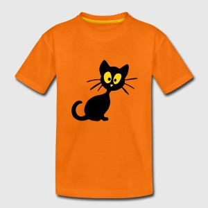 Oranje kitty Kinder shirts - Teenager Premium T-shirt