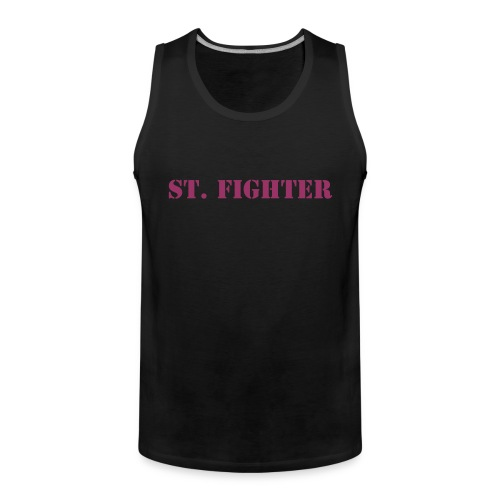 St. Fighter Muscleshirt Frontside - Männer Premium Tank Top