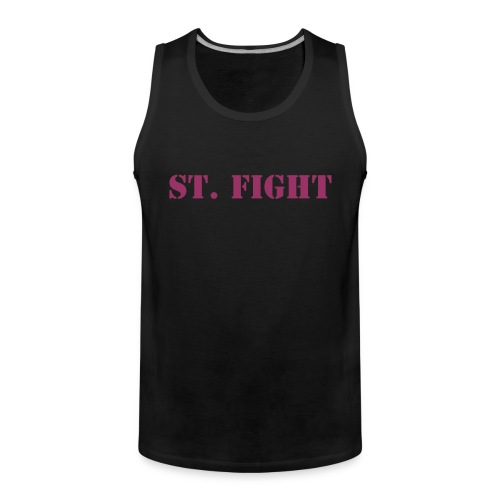 St. Fight Muscleshirt Frontside - Männer Premium Tank Top