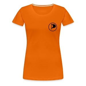 Piraten-Girlie mit Flagge - Frauen Premium T-Shirt